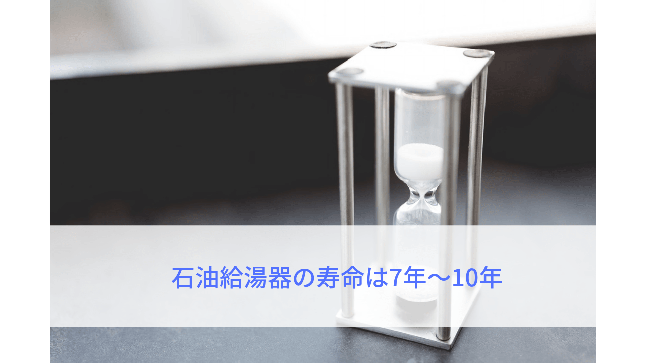 石油給湯器の寿命は7年~10年